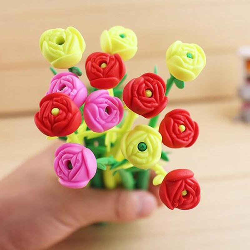 Mua Combo 10 bút hoa dẻo, có hương thơm dễ thương, tặng 1 bút kute ngẫu nhiên