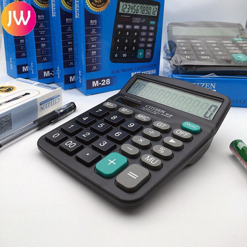 Hình ảnh Home Tool Supplies Solar Power Powered Battery Digit Calculator Jumbo Large