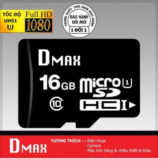 Thẻ nhớ 16GB Dmax Micro SDHC class 10 +Tặng viết bi