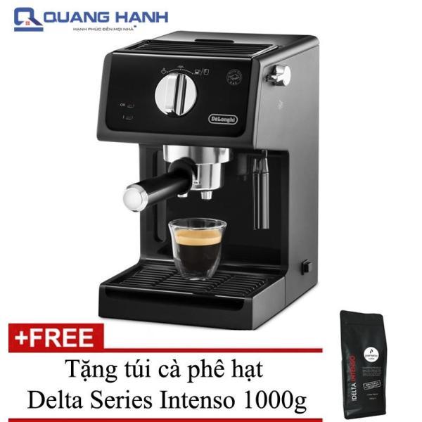 Bảng giá Máy pha cà phê Espresso DELONGHI ECP31.21 1100W (Đen) + Tặng túi cà phê hạt Delta Series Intenso 1000g - Hãng phân phối Điện máy Pico