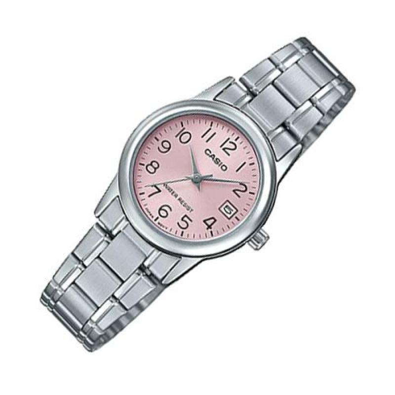 Đồng hồ nữ dây thép không gỉ Casio Anh Khuê LTP-V002D-4BUDF