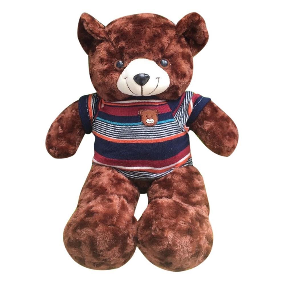 Gấu Bông Cao Cấp Teddy áo Thun Màu Nâu Size 50cm Hàng VNXK Siêu Giảm Giá