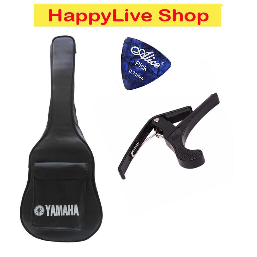 Bao Da Guitar Yamaha 3 Lớp + Capo Thép Chống Gỉ + Phím Gảy - HappyLive Shop Đang Trong Dịp Khuyến Mãi