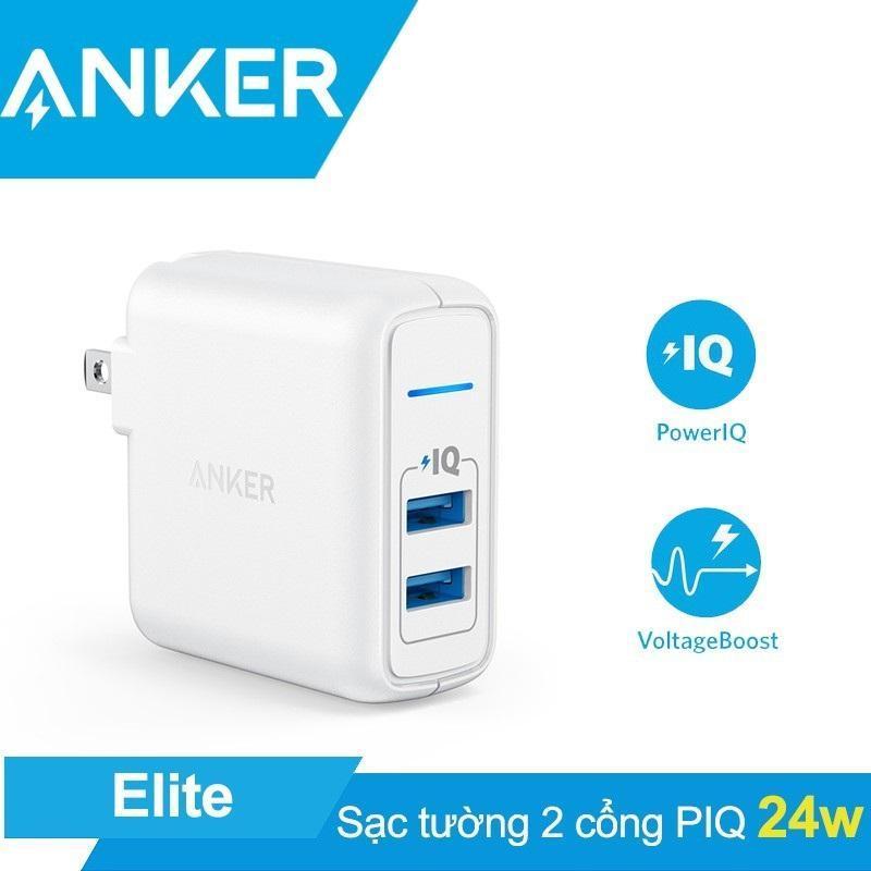Sạc Anker PowerPort Elite 2 cổng 24w