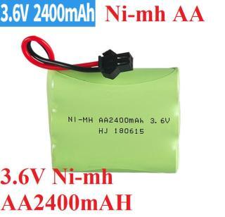 Pin 3.6v 2400mah cổng nối SM dùng cho xe ô tô điều khiển từ xa đồ chơi trẻ em thumbnail