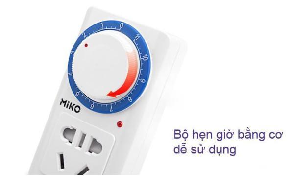 Bảng giá Ổ cắm hẹn giờ tắt dạng cơ Miko/KM958 Công suất 10A/220V ổ cắm hẹn giờ lùi ổ cắm hẹn giờ tắt điện sạc xe đạp điện