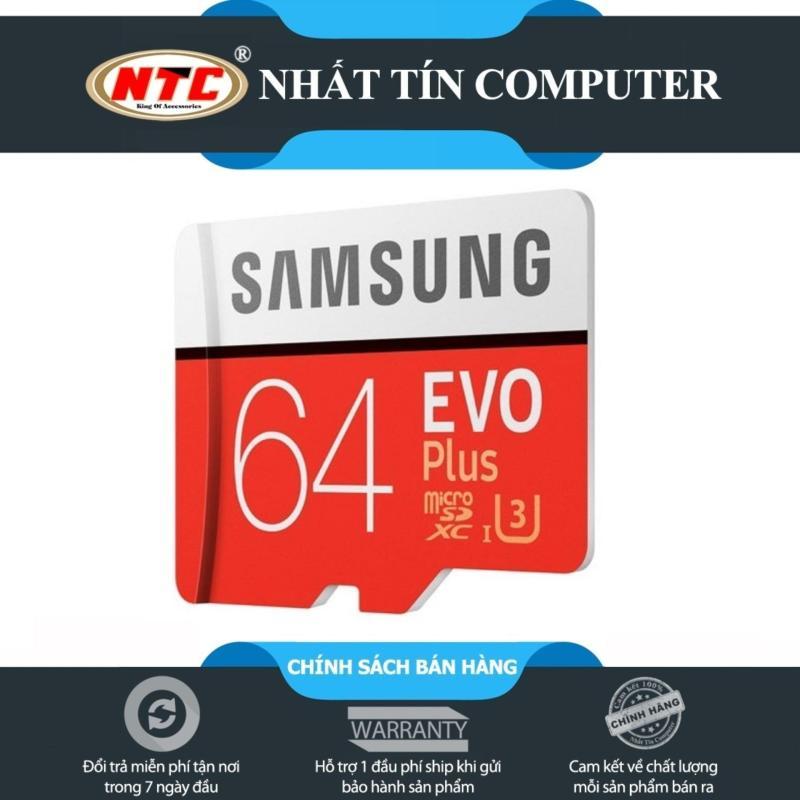 Thẻ nhớ MicroSDXC Samsung EVO Plus 64GB 80MB/s (Đỏ)