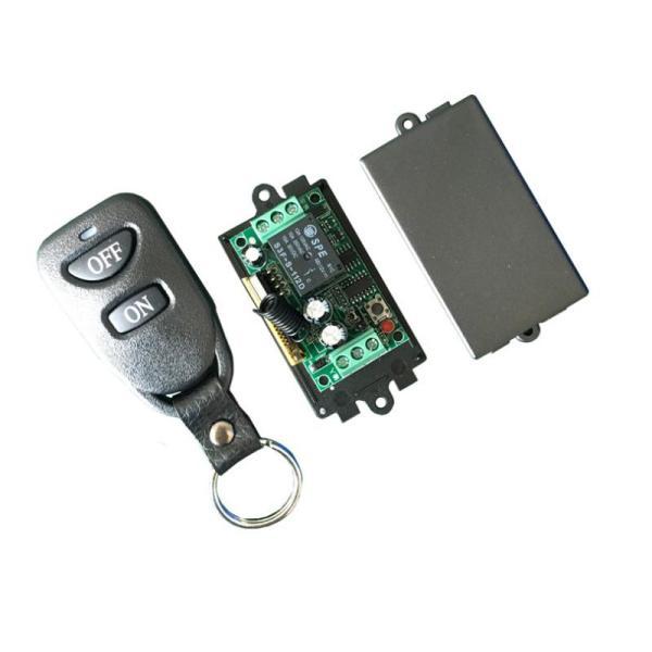 Bộ điều khiển từ xa 12VDC học lệnh kèm điều khiển (remote) bằng sóng RF 433 (điều khiển xuyên tường)