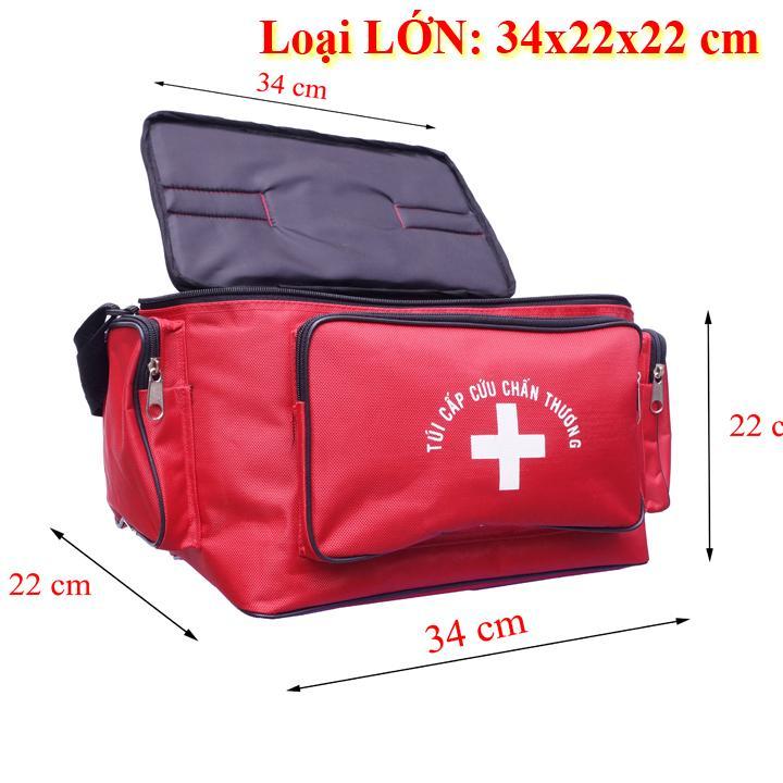 Túi cứu thương Đỏ Lớn: 34x22x22