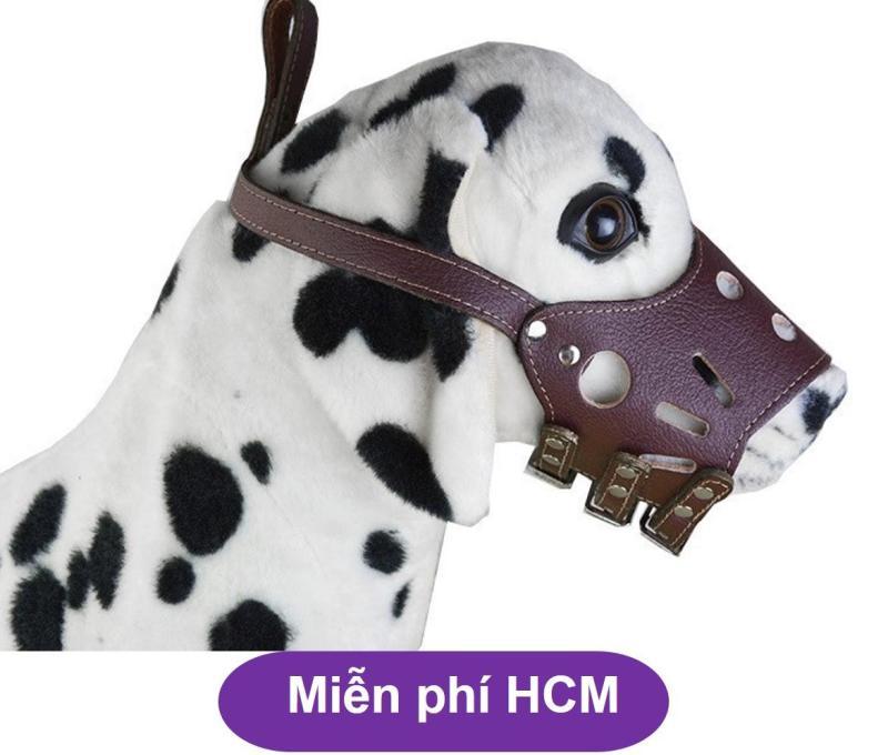 HCM-Rọ mõm cho chó -Rọ mõm da chống sủa (size M chó 8-16kg) HP2111018