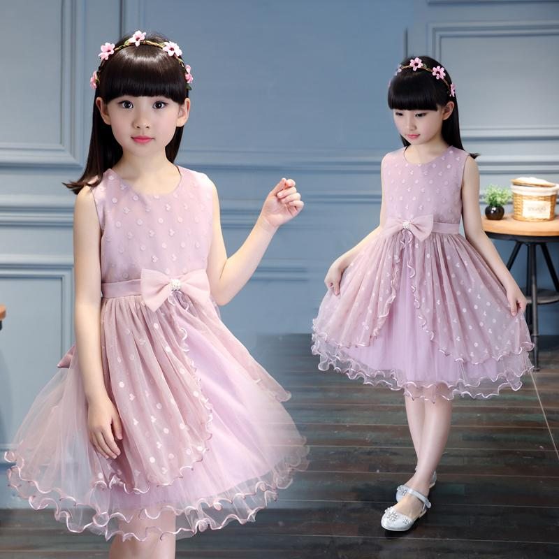 Giá bán Bé Gái Đầm Trang Phục Mùa Hè 2020 Mẫu Mới Bé Gái Ren Voan Váy Học Sinh Tiểu Học Váy Công Chúa Mùa Hè Trẻ Em