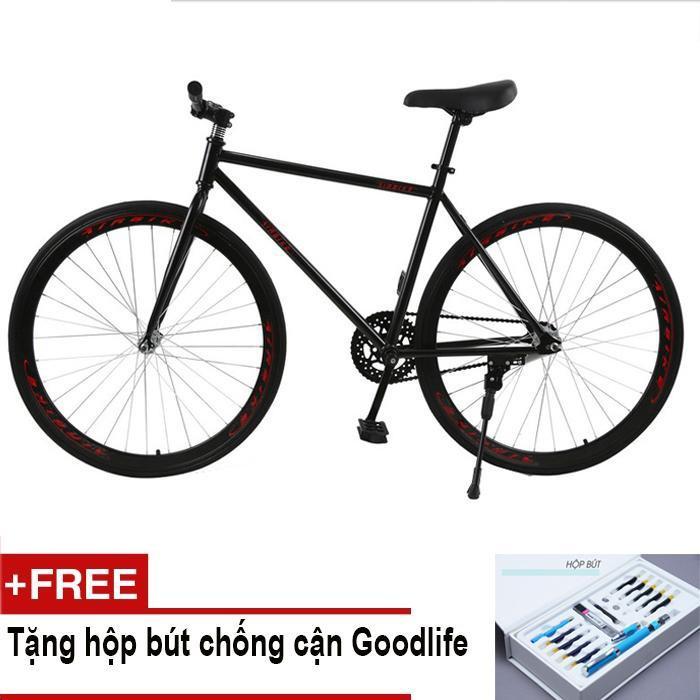 Mua Mishio - Xe đạp Fixed Gear Air Bike MK78 (đen) + Tặng hộp bút chống cận Goodlife
