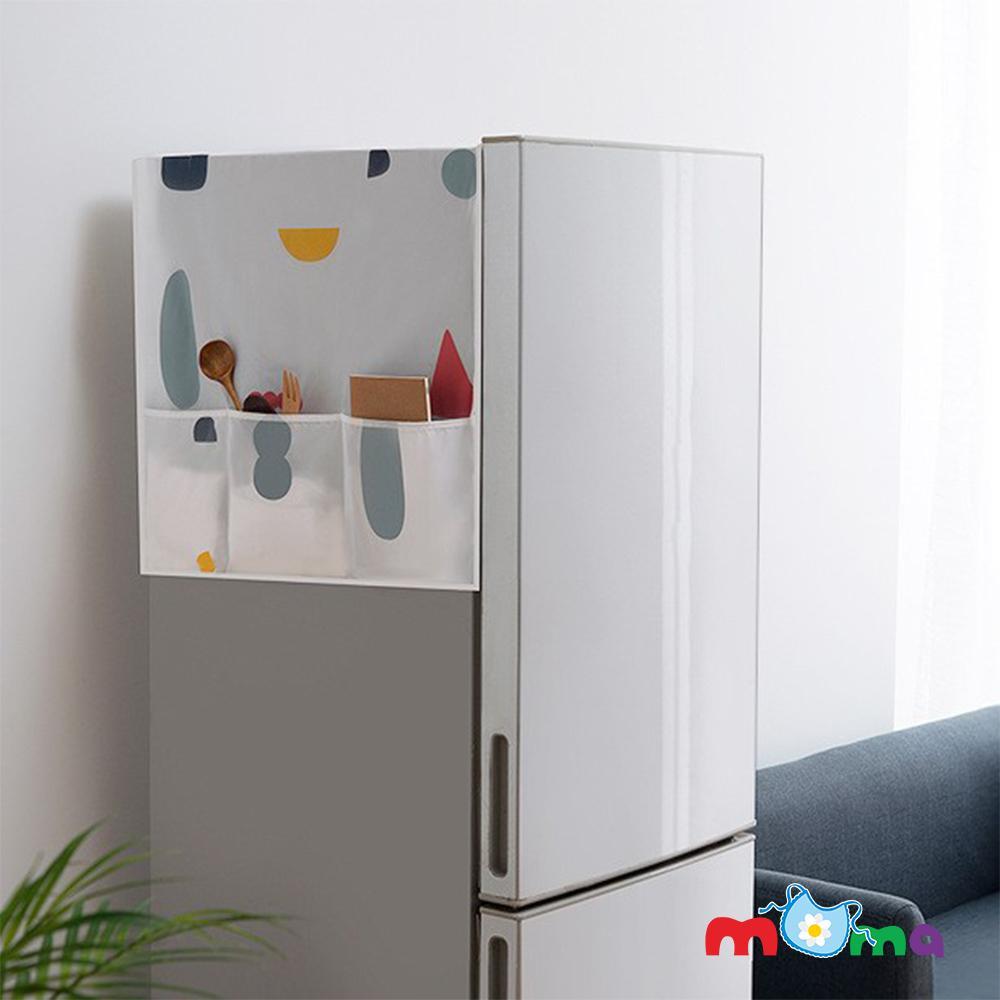 Tấm Phủ, miếng trải che, đậy nóc Tủ Lạnh Có Túi Đựng, bảo vệ, làm sạch nóc tủ lạnh Họa Tiết Ngẫu Nhiên 130*45cm_HL013