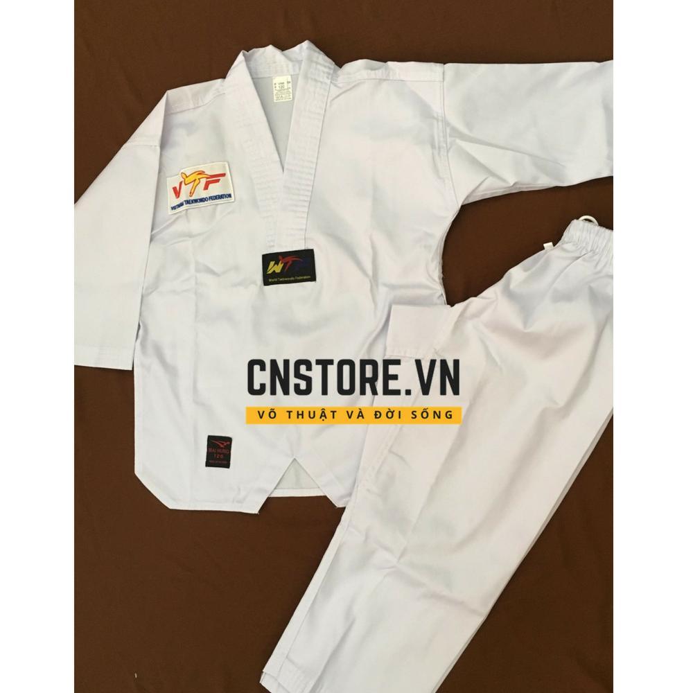 Hình ảnh Quần Áo Võ - Võ Phục Taekwondo Vải Kaki Dày (Đủ Size Từ 100-180cm)