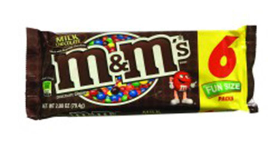 Chocolate M&M sữa 104gr của Mỹ gồm 6 gói nhỏ bên trong
