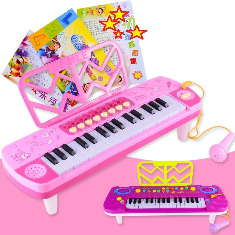 Hình ảnh Đàn Piano 32 Phím Kèm Micro Cho Bé (Đồ chơi phát triển sáng tạo cho bé)