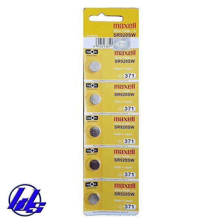 Pin đồng hồ SR920SW-371 Maxell - Vỉ 1 viên