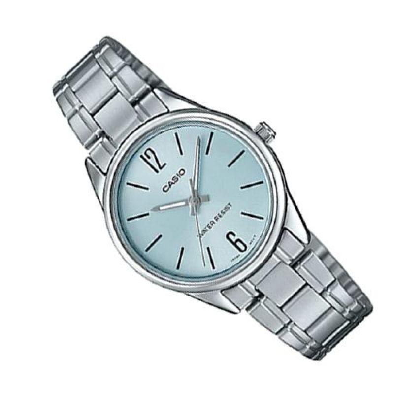 Đồng hồ nữ dây thép không gỉ Casio Anh Khuê LTP-V005D-2BUDF