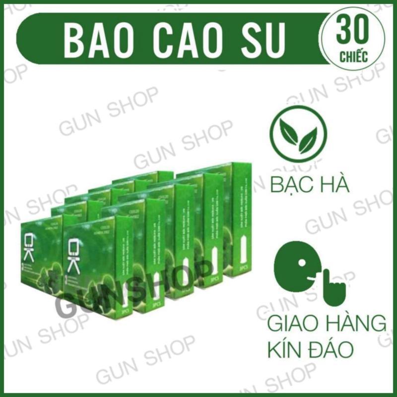 Bộ 10 Hộp Bao Cao Su OK (Malaysia) mùi hương bạc hà - [ Gunshop-BCS01 ]