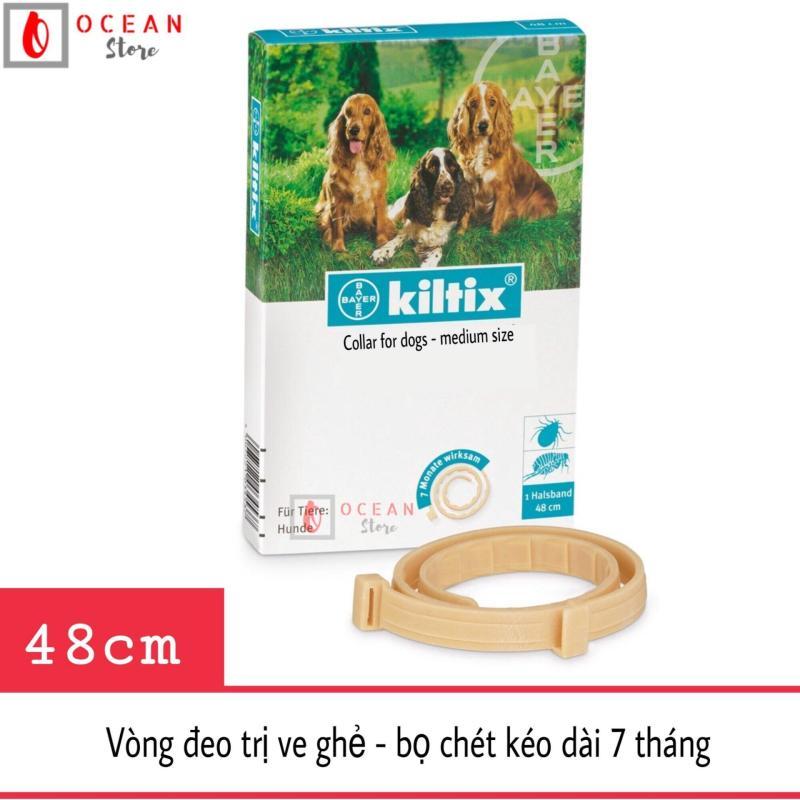 Vòng đeo trị ve ghẻ, bọ chét cho chó - Vòng đeo Bayer Kiltix cho chó dưới 20kg