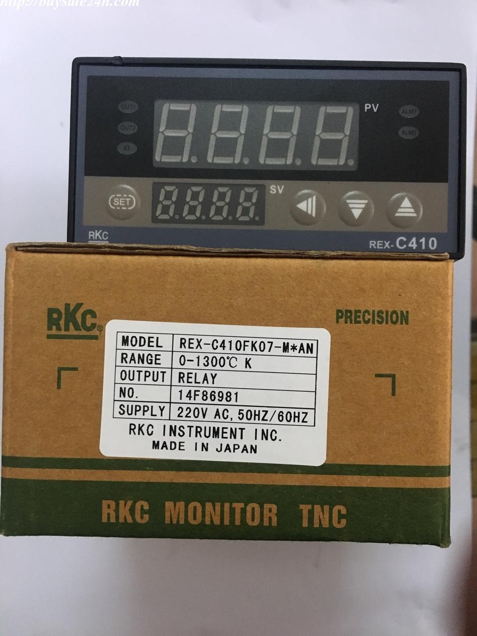 Bộ điều khiển nhiệt độ ( đồng hồ nhiệt độ ) RKC Rex C410 mặt 96x48 92x45