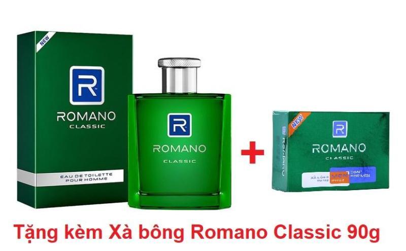 Nước hoa Romano Classic 50ml tặng kèm Xà bông Romano Classic 90g