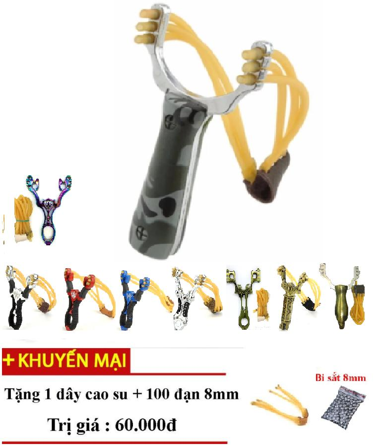 Hình ảnh Sung cao su na. thun 3 dây Siêu mạnh- Rằn Ri-Tặng ngay 1 dây 30k và 100 BISAT cỡ lớn 8mm trị giá 60k;