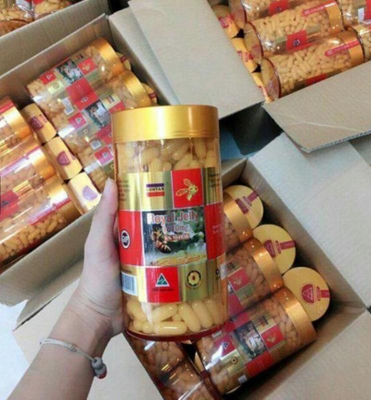 Sữa ong chúa úc Royal Jelly 1610mg 6% 10 HDA Úc (365 viên)