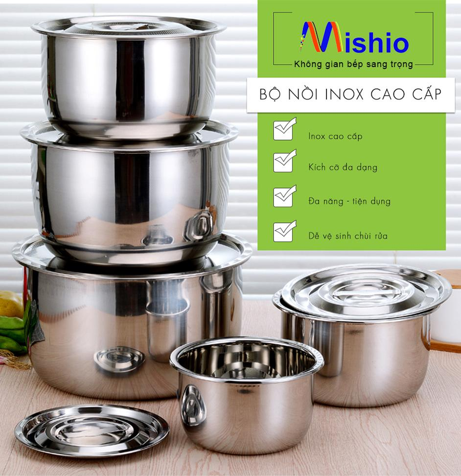 Bộ 5 Nồi Inox My Home Mk82 By Bm Shop.
