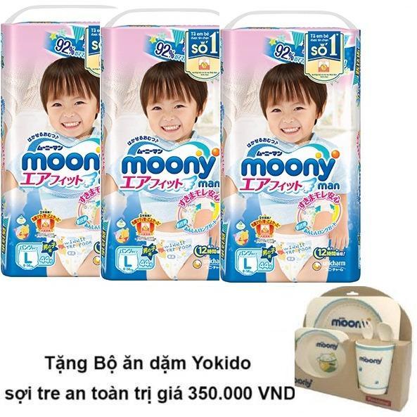 Cửa Hàng Bộ 3 Ta Quần Moony L44 Boy Tặng Bộ Ăn Dặm Yokido Sợi Tre An Toan Trị Gia 350 000 Vnd Rẻ Nhất