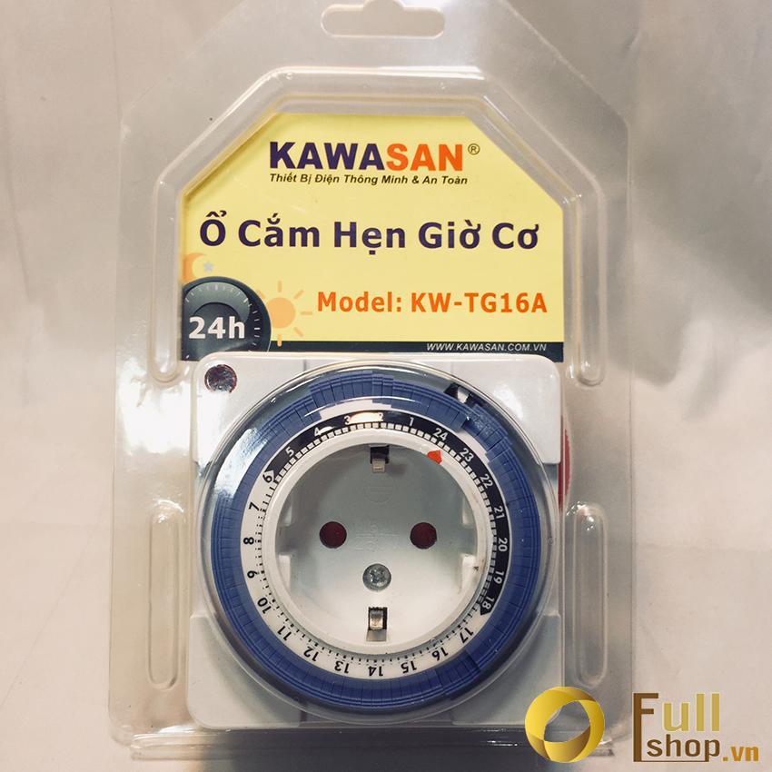 Ổ cắm hẹn giờ cơ TG16A 96 chu kỳ hẹn giờ tắt mở trên 24 giờ Kawa TG16A