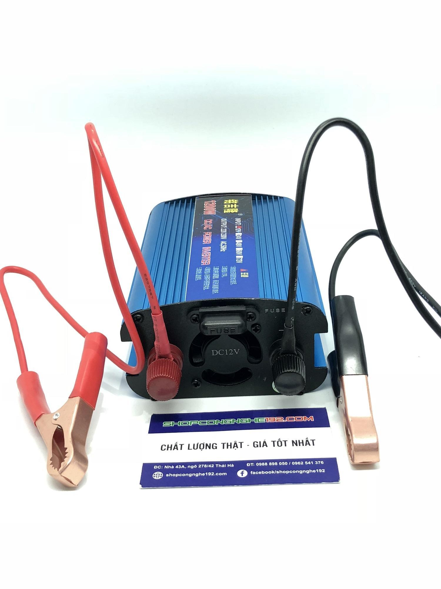 bộ chuyển đổi điện INVERTER 12v lên 220v 1200w loại tốt