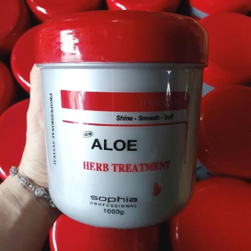KEM Ủ TÓC LÔ HỘI ALOE HERB TREATMENT SOPHIA 1000 G nhập khẩu