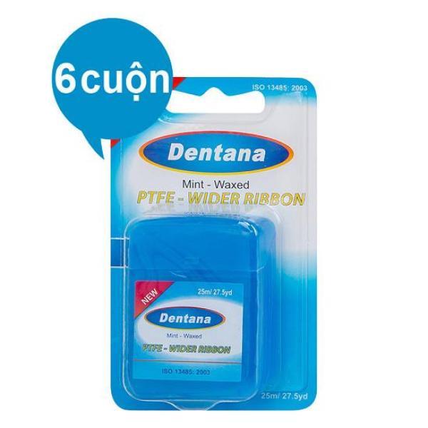 Set 6 Cuộn Chỉ Nha Khoa Chính hãng DENTANA an toàn cho Răng, Lợi giá rẻ