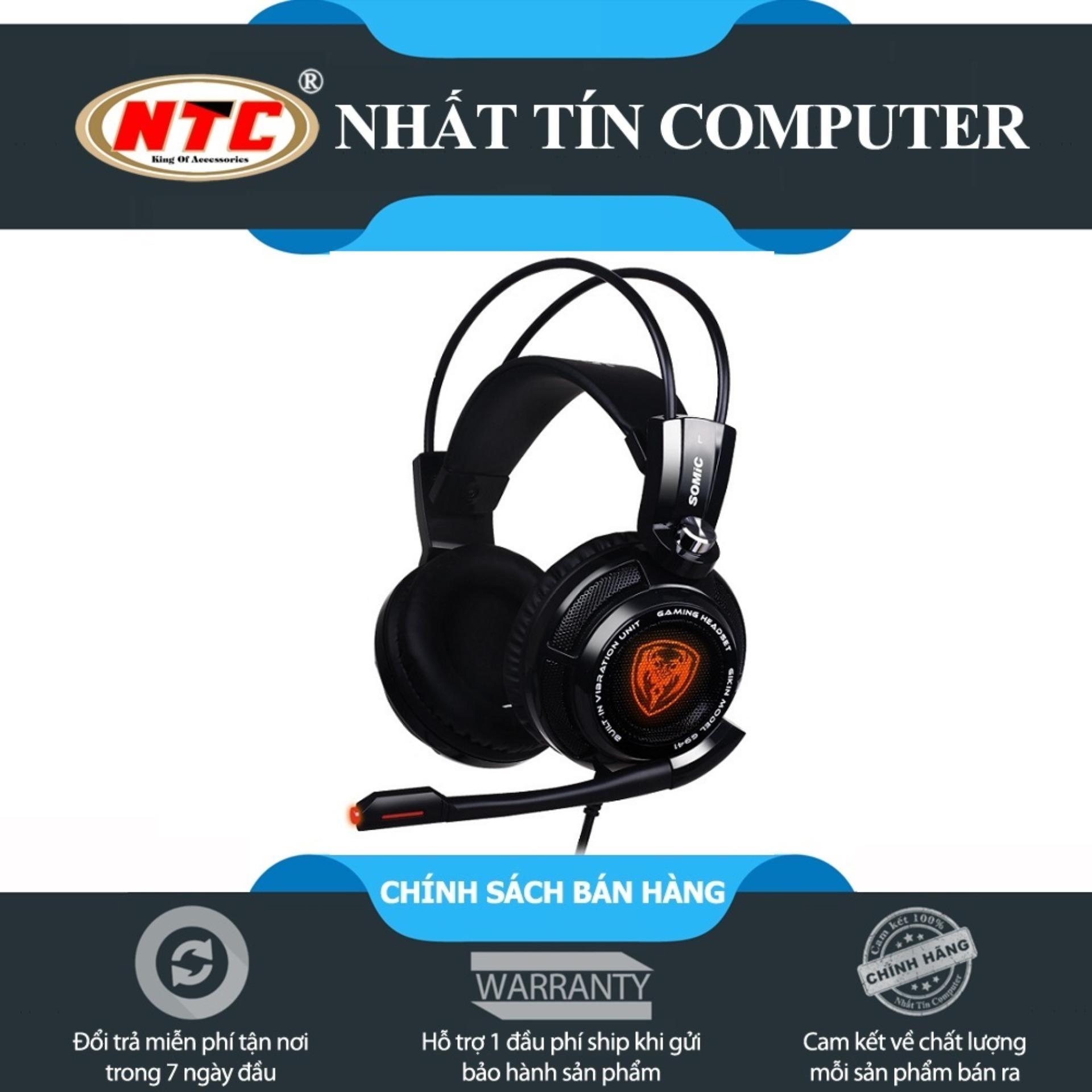Hình ảnh Tai nghe chụp tai chuyên Game Somic G941 7.1 (Đen)