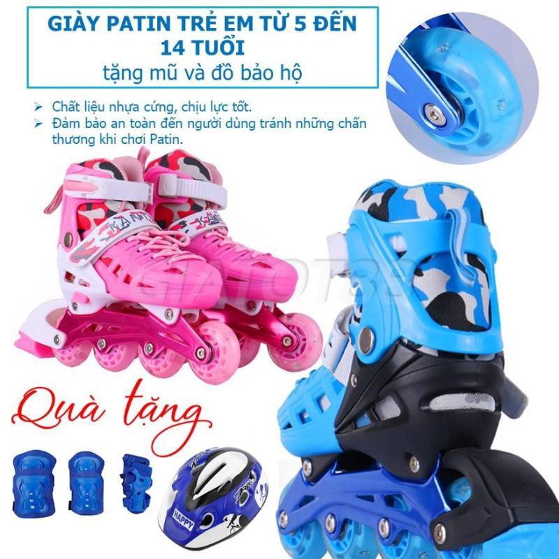 Mua Giày Trượt Patin Dành Cho Trẻ Em, Giày Trượt Patin Trẻ Em Tặng Mũ Và Miếng Bảo Hộ Chân Tay, Món Quà Ý Nghĩa Cho Bé Yêu