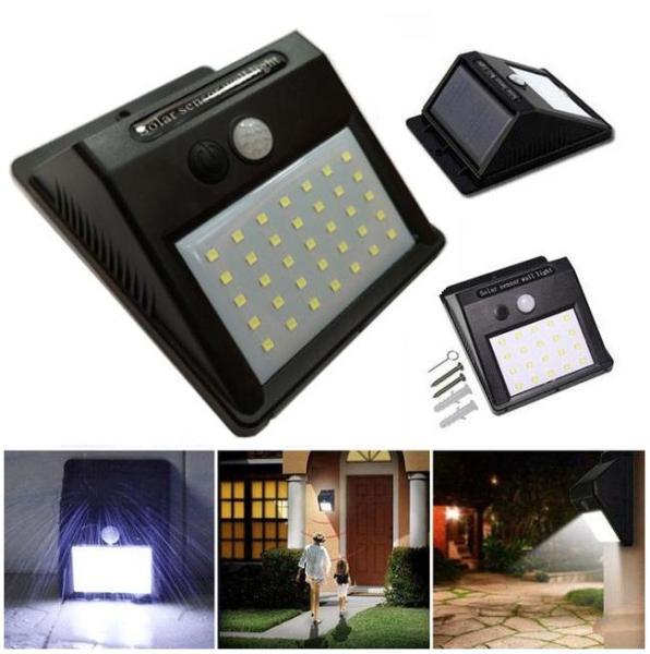 Đèn năng lượng mặt trời Solar 35 LED 3 chế độ sáng 7W (Đen)