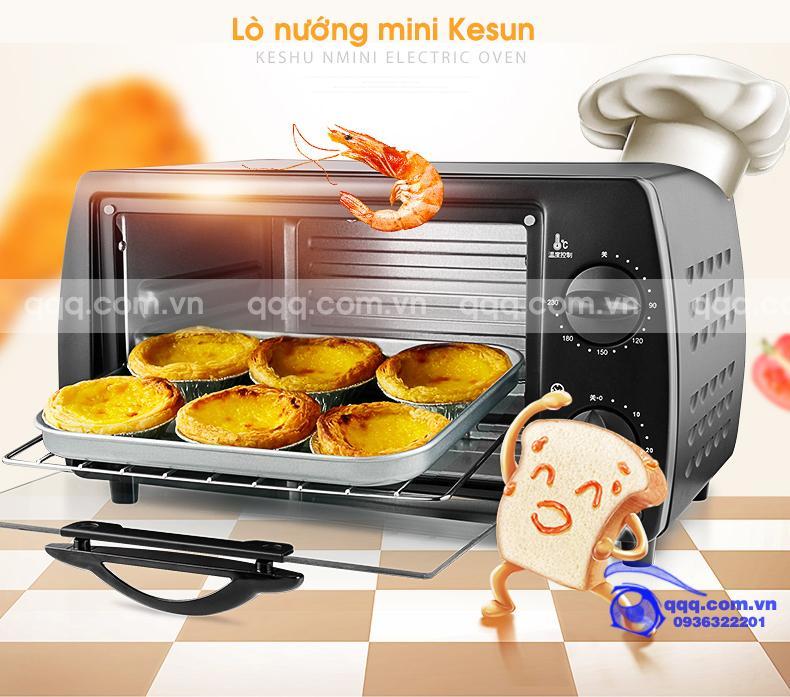 Hình ảnh Lò nướng bánh Kesun Cao cấp 9 lít, Lò nướng điện, Lò nướng thịt, lò nướng nào tốt, lò nướng mini, lò nướng gà
