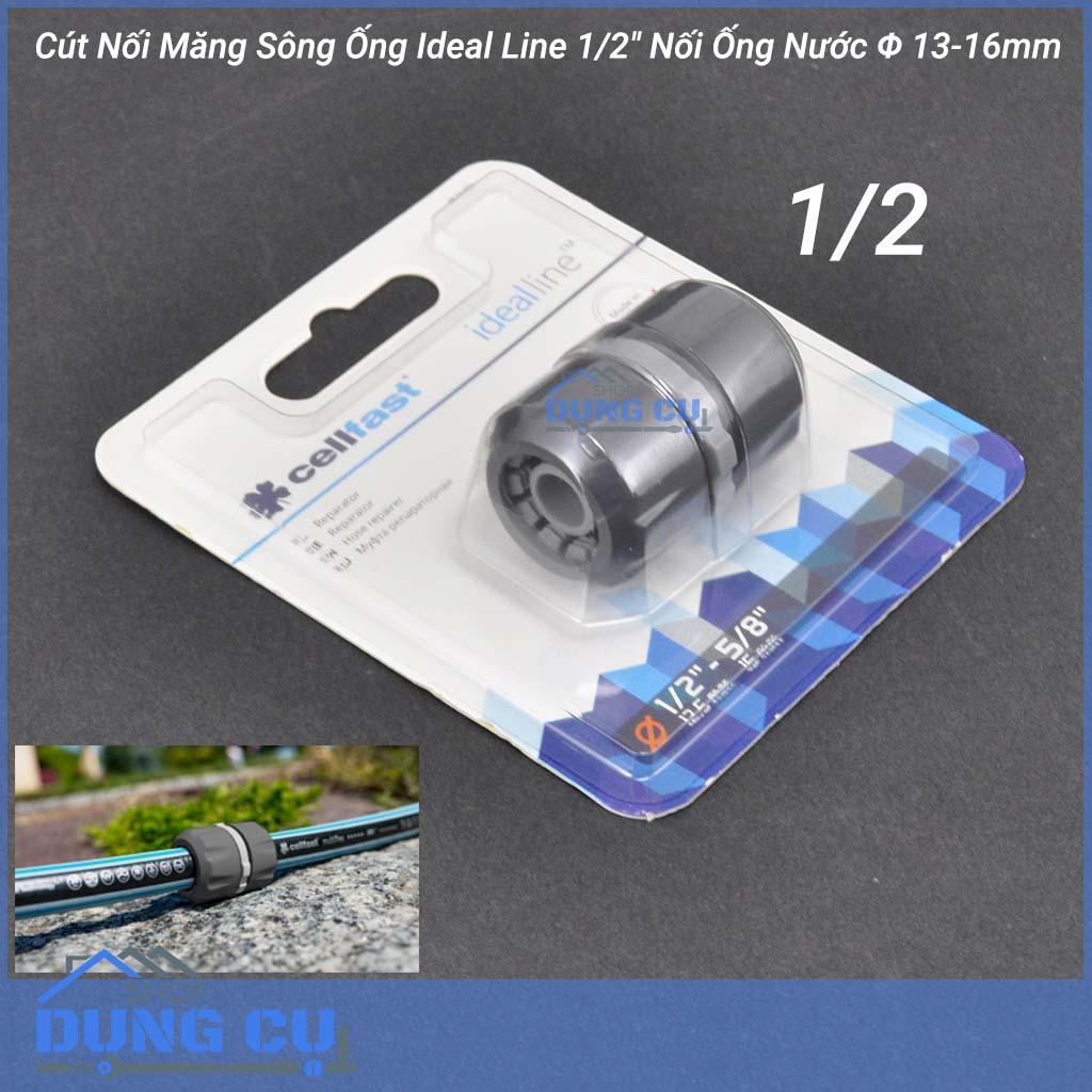 Hình ảnh Cút Nối Măng Sông Ống Cellfast Ideal Line 1/2″ Nối 2 Đầu Ống Nước Φ 13-16mm