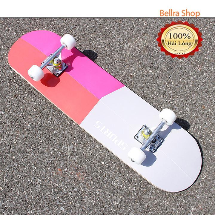 Ván trượt Skateboard thể thao mặt nhám gỗ phong ép 7 lớp