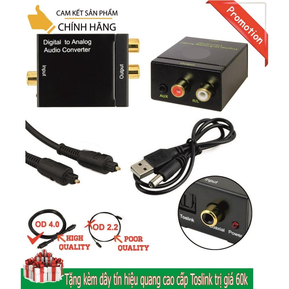Hình ảnh Bộ chuyển đổi tín hiệu âm thanh quang học (Optical - Tivi 4K), Coaxial sang audio L/R (AV hoa sen) hoặc AUX (3.5 mn) nguồn USB, âm thanh cực to, tặng kèm dây quang Toslink