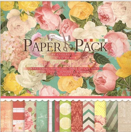 Mua PAPER PACK - GIẤY SCRAPBOOK HOA HỒNG V2 (12X12 INCH & STICKER)_GHM78