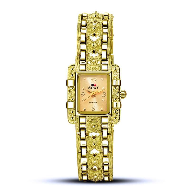Đồng hồ nữ dây hợp kim Soxy PKHRSY007-4 (bạc mặt đen) + Tặng 1 jack chống bụi cho điện thoại