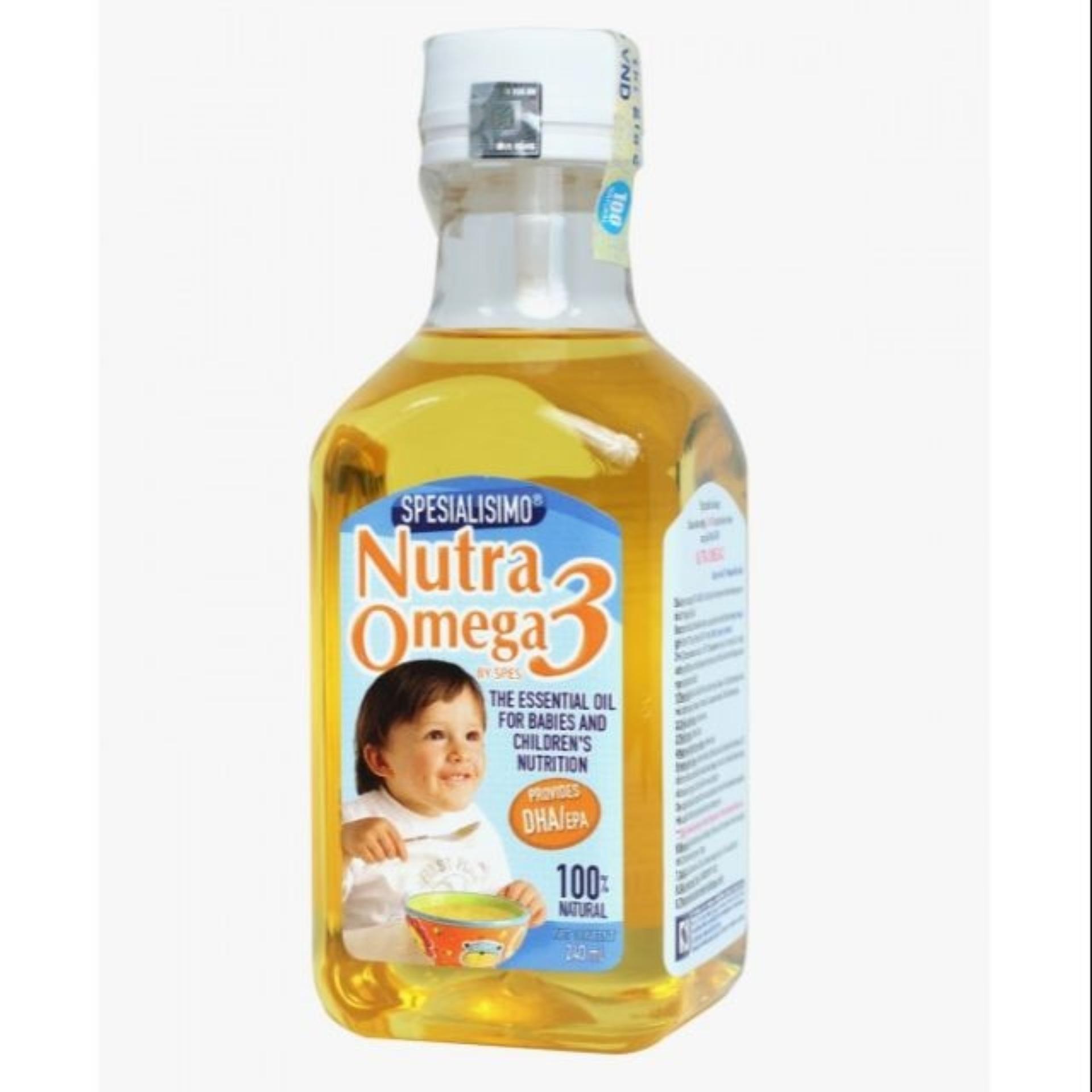 Mua Dầu Ca Hồi Nutra Omega3 Cho Trẻ Từ 7M Ăn Dặm 240Ml Nutra
