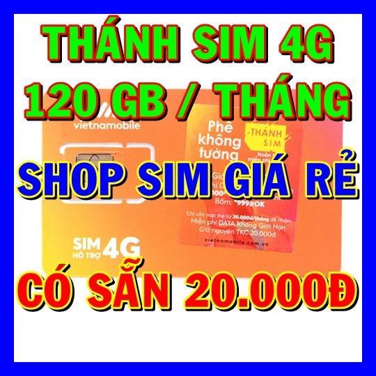Hình ảnh Thánh sim 4G Vietnamobile FREE 120Gb/tháng - Shop Sim Giá Rẻ - Thánh sim giá sỉ