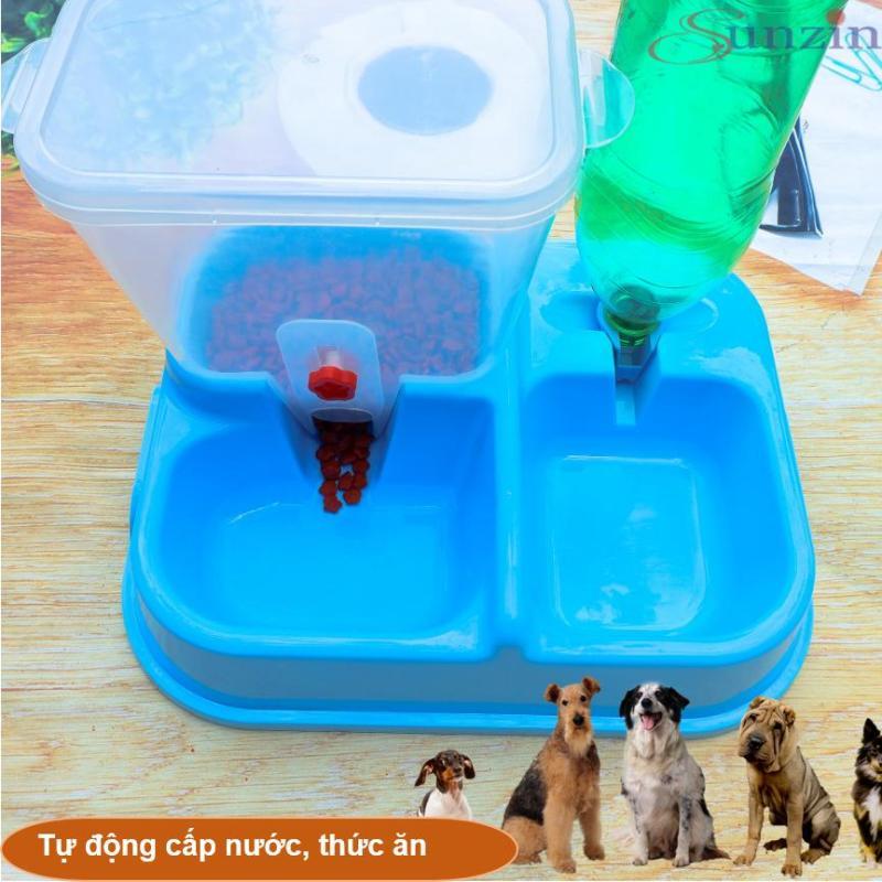 Hanapet-Bộ cấp nước và thức ăn tự động cho thú cưng loại có bồn chứa thức ăn ( bat tu dong ) Bát ăn cho chó / máy