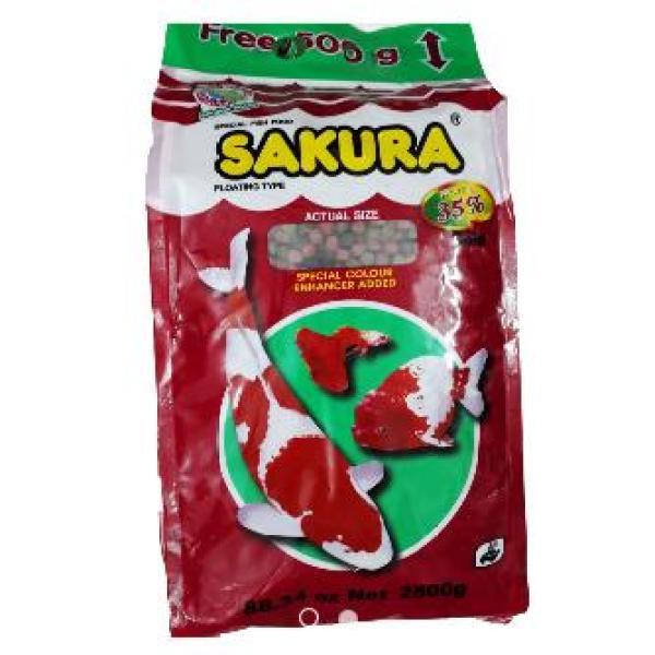 Thức Ăn Cá Sakura (Viên Lớn 7mm) 2500g - Cám Cá Cảnh 2.5kg