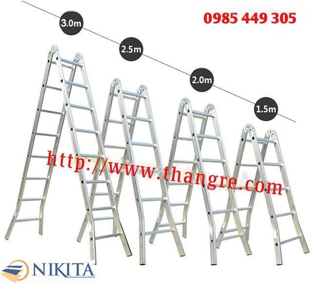 Thang nhôm chữ A khóa sập tự động Nikita Nhật Bản dài 3,9m (NIKA20)
