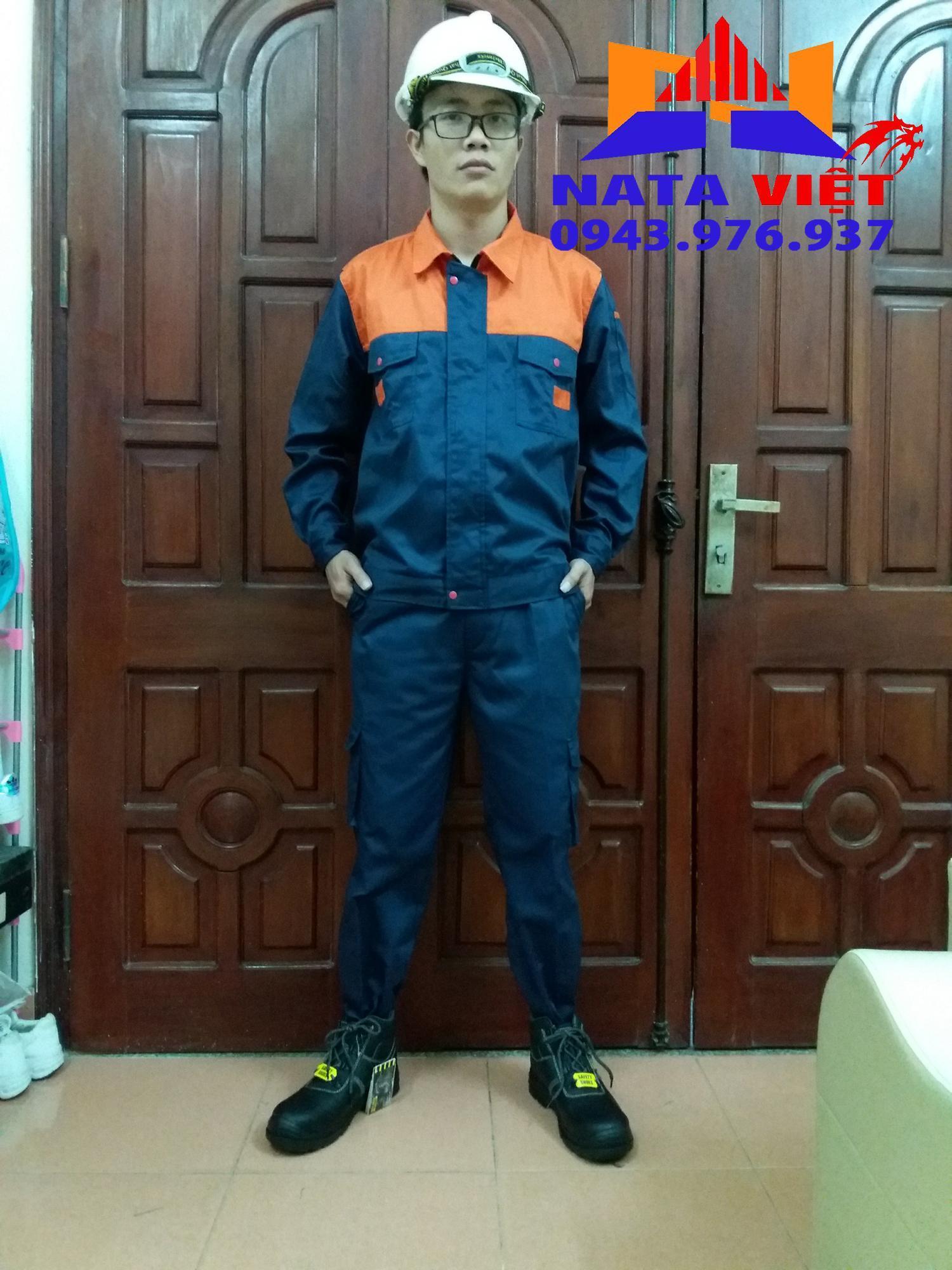 quần áo bảo hộ lao động cam phối size 8