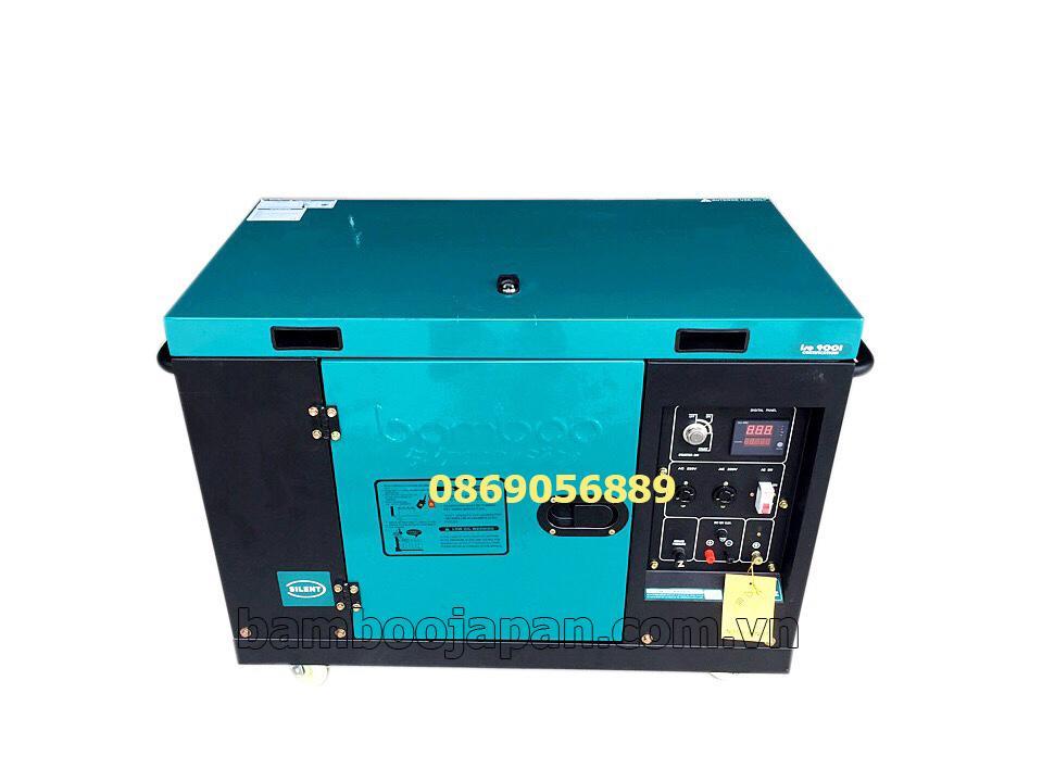 Máy phát điện chạy dầu bamboo BMB 9800ET new 8Kw, chống ồn